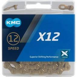 Cadena KMC X12 oro 126p 12V
