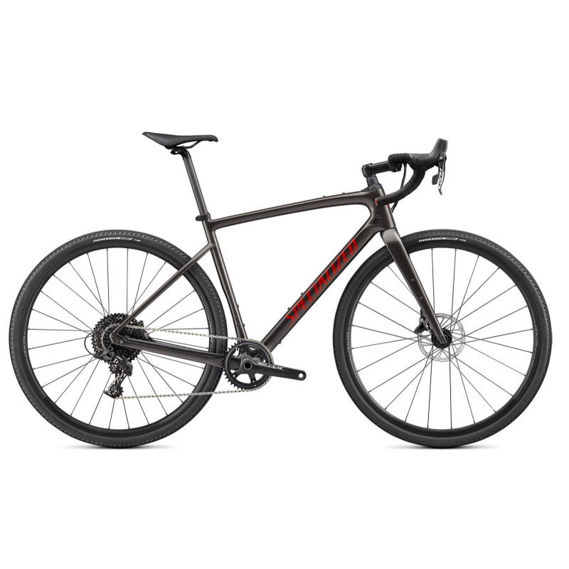BICICLETA SPECIALIZED DIVERGE CARBON SMOKE/REDWOOD 2021